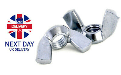 M3 M4 M5 M6 M8 M10 M12 M16 Wing Nuts Butterfly Nut Bright Zinc Plated Din 315 -