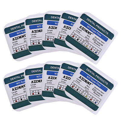 10 Pack AZDENT Dental Endodontic File Engine Use Root Canal Finishing SX-F3 21MM