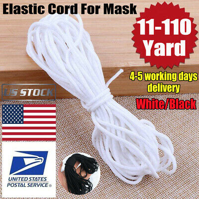 3mm Round Ear Hanging Elastic Band Cord Sewing Crafts DIY Material 10-100m USA