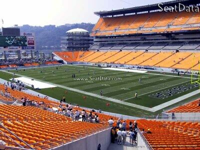 (4) Steelers vs Broncos Tickets Lower Level Aisle Seats!!