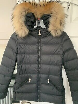 Moncler black girls Aimeet coat  age 12 genuine £550