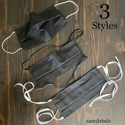 Cotton Face Mask Washable With Nose Clip & Filter Pocket option (Non-Medical)