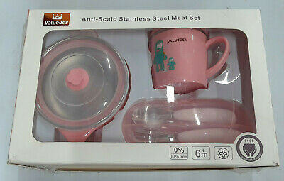 Valueder Stainless Steel Child Tableware Set pink
