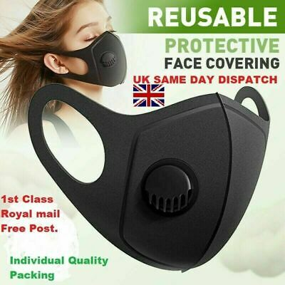 Breathable & Washable face mask with valve