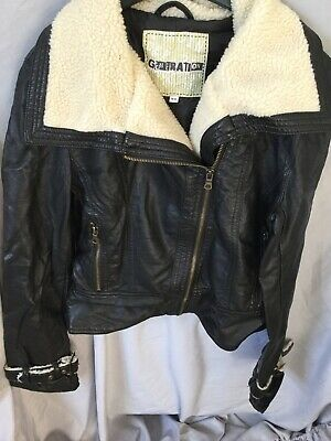 New Look Generation Pilot Leather Jacket Size 14-15
