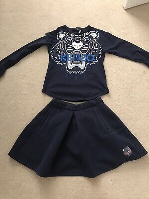 Girls Kenzo Top And Skirt Outfit Age 8