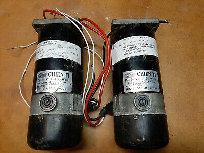 Mobility Scooter CTM Motors Chien Ti 512000-002 Pair 24v DC