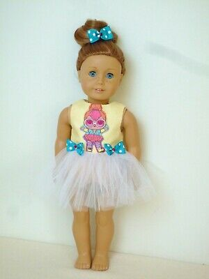 American Girl Our Generation Lol Neon Q. T Ballet Tutu 18 Inch Doll Clothes