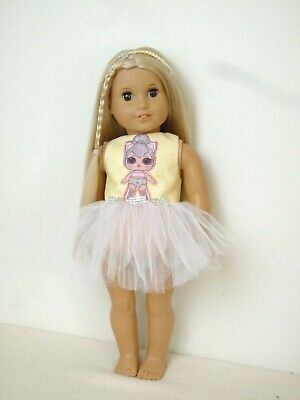 American Girl Our Generation Lol Kitty Queen Ballet Tutu 18 Inch Doll Clothes