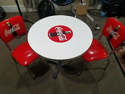 Coca-Cola Diner Chairs & Table Coke Bottle