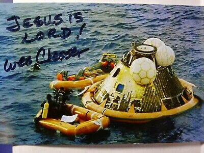 WESLEY CHESSER Authentic Hand Signed 4X6 Photo - NAVY SEAL -APOLLO 11 RECOVERY