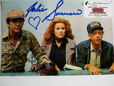 JULIE SOMMARS Authentic Hand Signed 4X6 Photo - HERBIE LOVE BUG MONTE CARLO