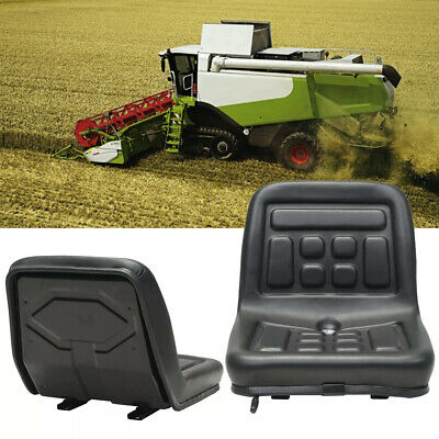 Adjustable Black Tractor Seat w/Sliding Tracks & Drain Hole Waterproof Durable