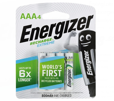 Energizer Recharge 4pk Extreme AAA Batteries