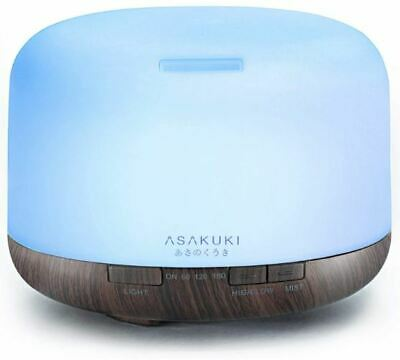 ASAKUKI 500ml Premium Essential Oil Diffuser 5 in 1 Ultrasonic Aromatherapy