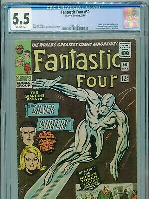 1966 Marvel Fantastic Four #50 Classic Jack Kirby Silver Surfer Cgc 5.5 Box6
