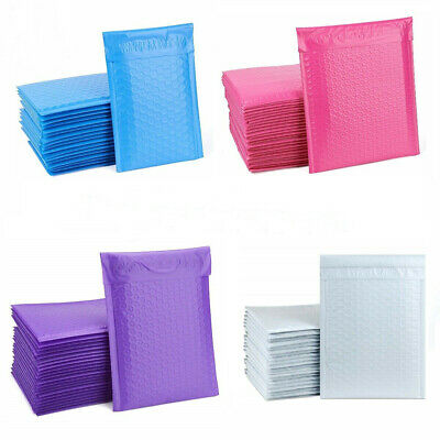 6.5 X 10 Poly Bubble Mailers Shipping  3 Colors