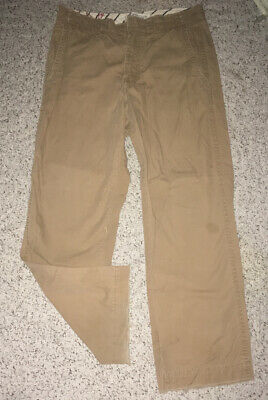 American Eagle Outfitters Mens Bootcut Cargo Pants Jeans ~ Tan ~ Size 32 X 30