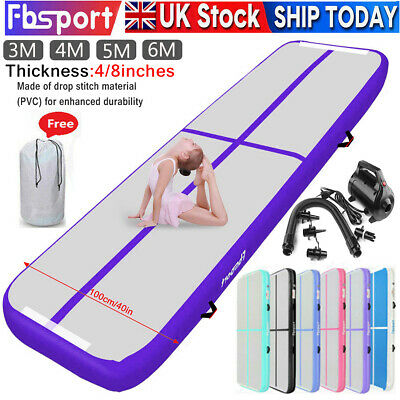 Fbsport 3/4/5/6M Air Track Inflatable Airtrack Home Gymnastics Tumbling Mat+Pump