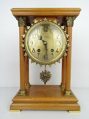 Warmink Wuba PILLAR Dutch Vintage 8 day Mantel Shelf Clock (Junghans Hermle era)