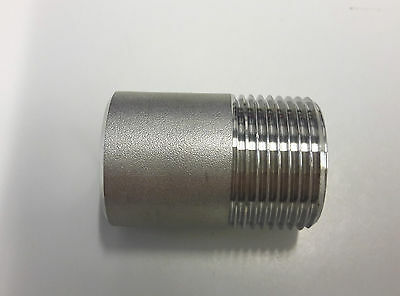 """Stainless Steel Weld Nipple 316 150lb BSP Pipe Fitting 1/4"""" to 4"""" sizes"""