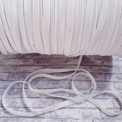 1/4 Inch White Stretch Flat Elastic Waist Band Woven Sewing Trouser Dressmaking