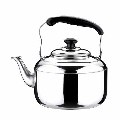 3 Litre Stainless Steel Whistling Tea Kettle Pot Gas Electric  Stovetop Camping