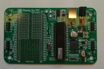 Mikroe PIC Development PCB Microchip PIC18K45K22 with Bootloader