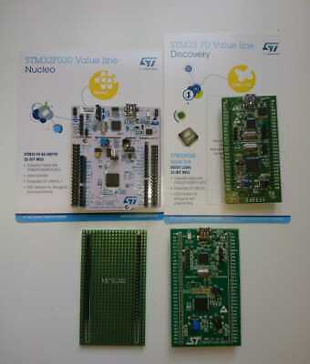 STM32 ARM Development Boards, 3 Assorted Boards plus Prototype PCB