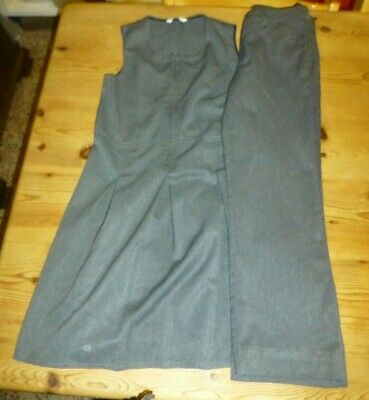 Bundle Girls School clothes 10-11 years Grey NEXT Trousers & M&S Pinafore