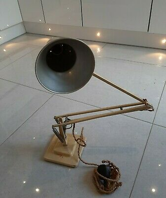 Original Vintage Cream HERBERT TERRY Stepped Anglepoise Lamp