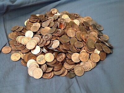Uk/British Decimal Bright (1/2p) Half Pence Coins 1Kg (1 Kilo) Big Lot Bulk Buy!