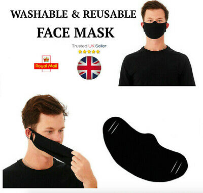 Mouth Face Mask Reusable Mask Washable Black Adult Mask Unisex UK