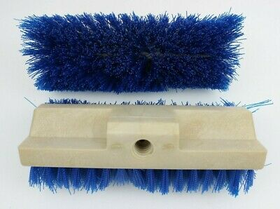 """10 3/4"""" Polyester Replacement Wall Floor Brush Head Cleaning Industrial Lot of 2"""