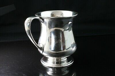 Rare! Antique Tiffany & Co sterling cup 1916 'JVC' initialed