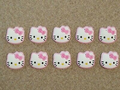 Lot 10 Hello Kitty Sanrio Cat Face Jibbitz Croc Shoe Charms for Crafts Magnets