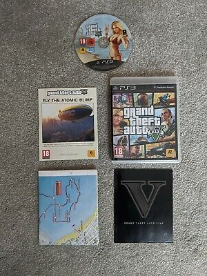 Grand Theft Auto V - PS3 GTA 5 - MINT Condition w manuals - Fast & Free Delivery