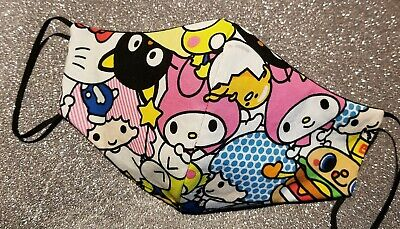 3-layer Hello Kitty and Sanrio Friends Face Mask *random cut, continuous design*
