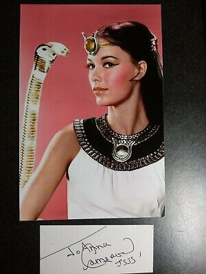 JOANNA CAMERON Hand Signed Autograph CUT With 4X6 Photo  - THE SECRETS OF ISIS