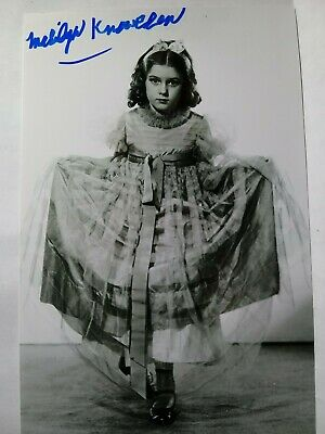 MARILYN KNOWLDEN Hand Signed Autograph 4X6 Photo  - FAMOUS 1930'S CHILD ACTRESS