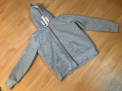 Gorgeous Marks & Spencer Fur Lined Hoodie Jacket Age 8-9 Yrs Grey Silver Sparkle