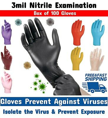 Disposable Gloves Nitrile 100/200 Vinyl Medical Latex/Powder free Tattoo Artist