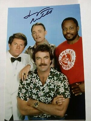 LARRY MANETTI As RICK Authentic Hand Signed Autograph 4X6 Photo - MAGNUM PI