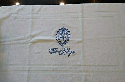 The Plaza Hotel~New York Authentic Bath Mat With Crest From Late 90'S~Veuc