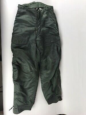 Vintage Extreme Cold Weather Trousers Pants F-1B Size 34 USAF