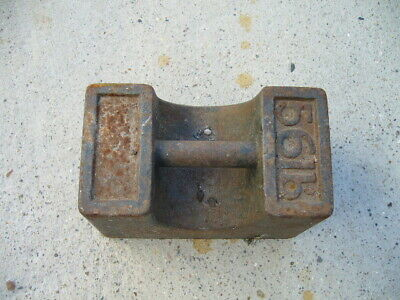 Industrial Cast Iron 56lb Weight Used COLLECTION ONLY Vintage