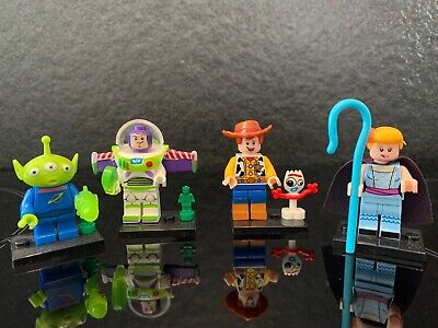 TOY STORY WOODY FORKY BUZZ BOW x4 MINIFIGURES Bundle Lego Compatible Models