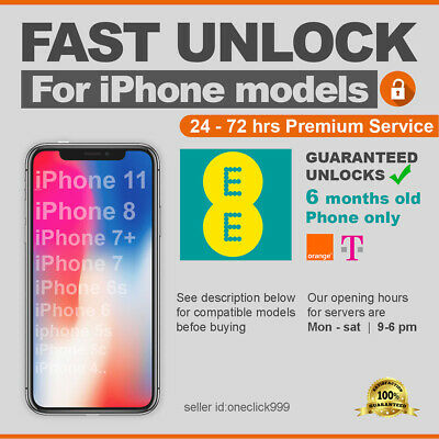 Unlock Code for iPhone 11 PRO,11,MAX,XS,XS MAX,XR,X,8 Plus,8,7,6,5,5S,5C,4 EE UK