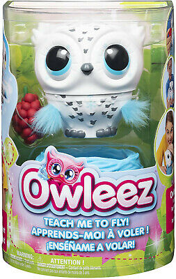 Owleez 6046148 Flying Baby Owl Interactive Toy with Lights and Sounds (White)