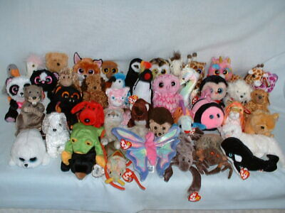 TY BEANIE BABIES BOOS BABY Soft Toys Some RETIRED & With Tags *PICK FROM SET*